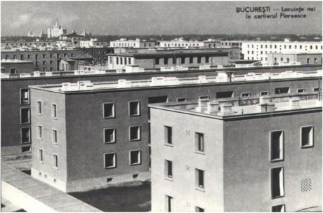 Locuinte noi in Cartierul Floreasca, pe fundal de vede Casa Scanteii
